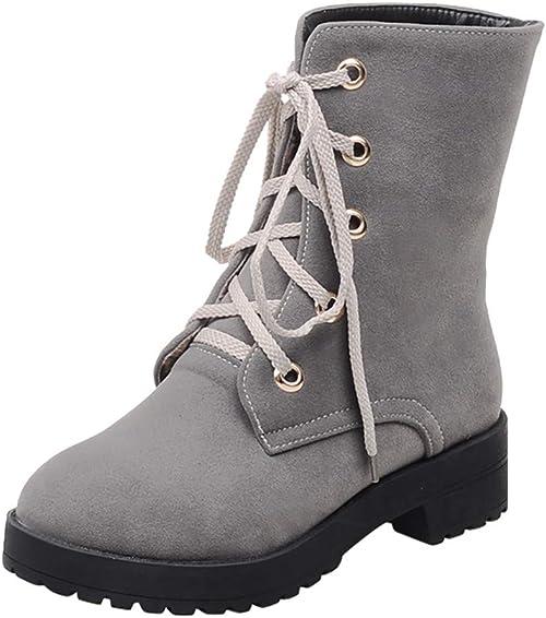 Damen Stiefel Stiefeletten Ankle Boots Schuhe Blockabsatz Freizeitschuh Booties