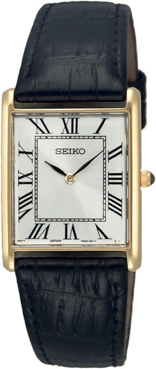 Seiko Reloj Analógico de Cuarzo para Hombre con Correa de Piel – SFP608P1
