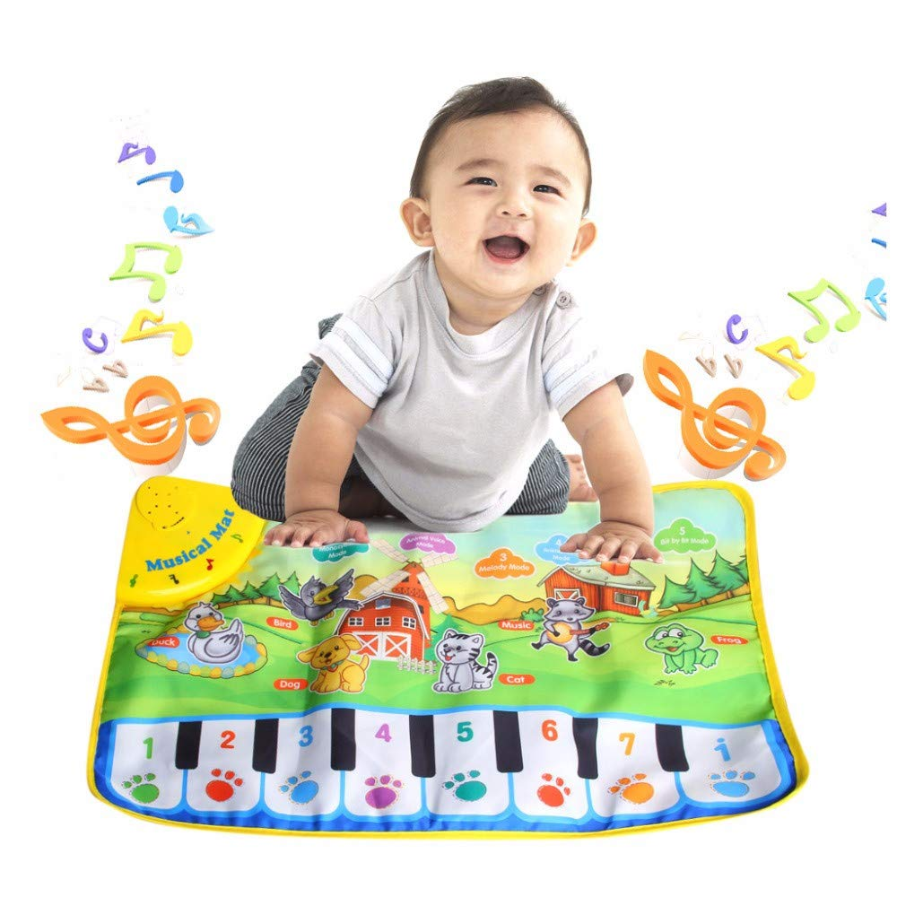 TechCode Children's Upgrade Piano Playmat, Kids Piano Keyboard Music Playmat Toy, Funny Dancing Mat for Babies Toddler Boys and Girls Birthday Christmas Festival Gift by TechCode (Image #2)