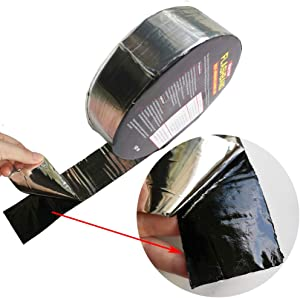 BXI Flashing Roll Tape Membrane - Waterproof Patch & Seal Tape - Modified Bitumen Rubberized Asphalt - Self-Adhesive - Multiple Sizes (2'' X 32')
