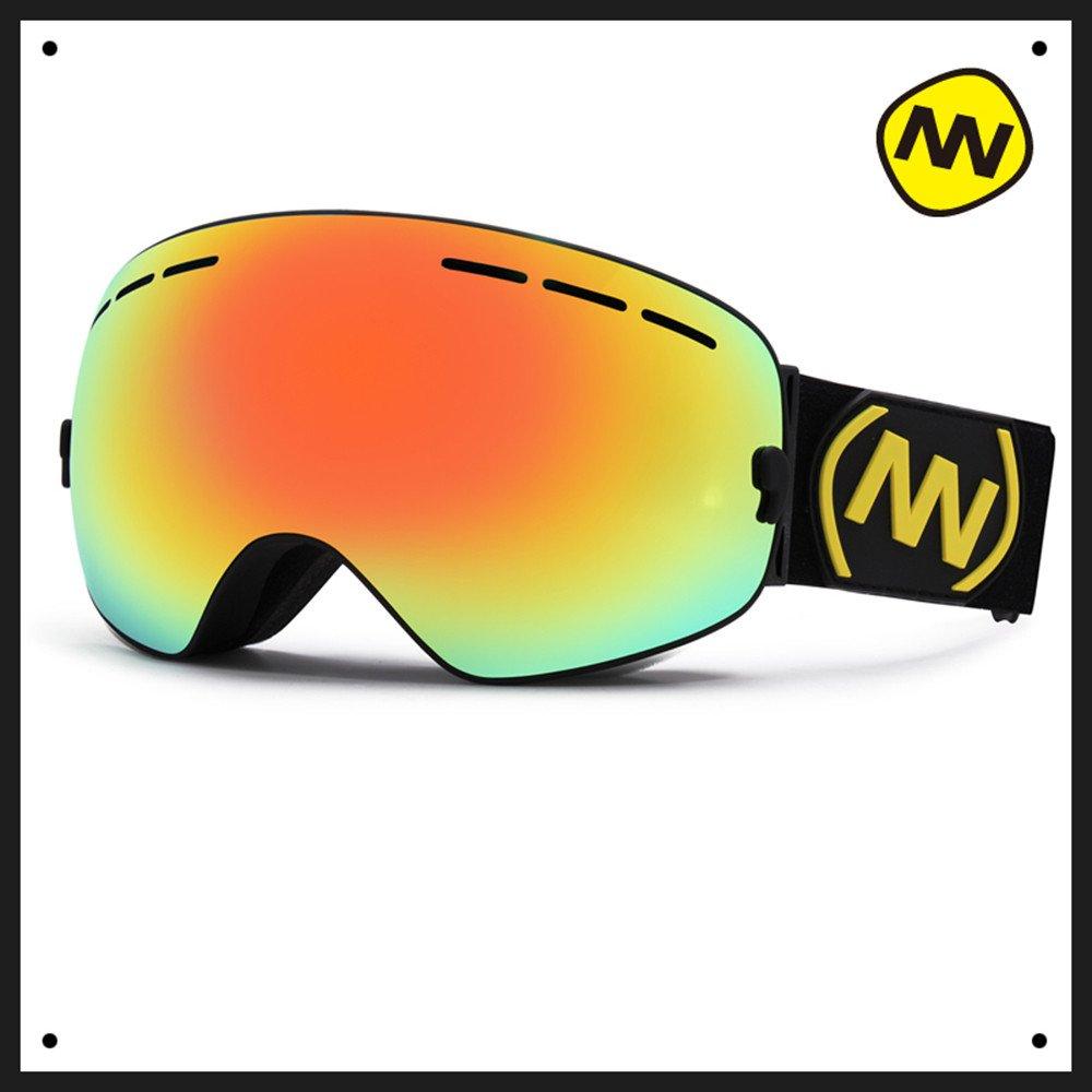 NANDNゴーグル ダブル防霧スキー鏡大球面単双板コッカー近視スキーメガネ装備 B076V6L8RF h h
