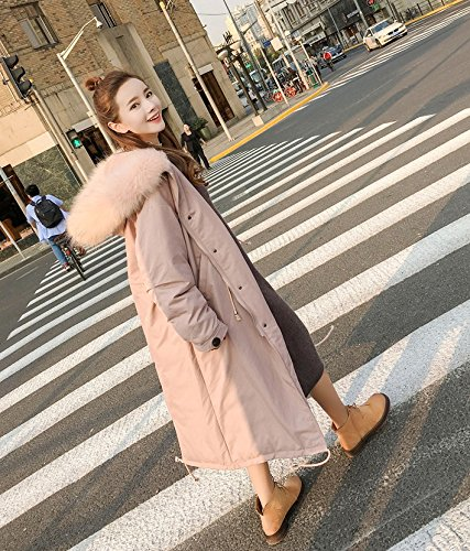 In Cotton Clothing 3119 The Thickening Large Large Collar Feather Cotton Jacket Women Long Xuanku Loose Paragraph Pink Jacket Cotton Hair WnzpqxwC