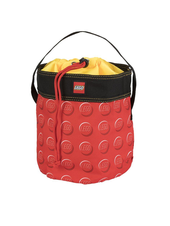 LEGO STORAGE CINCH BUCKET - RED