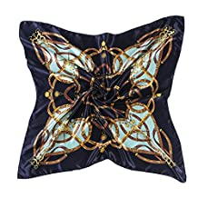 "lovescarf Elegant Women's Neckerchief Silk Feeling Satin Square Scarf Wrap 35"" (Royal blue)"