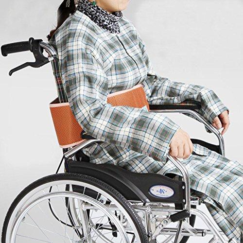 DeFancy 5.5'' Soft Wheelchair Waist Belt Restraint with Velcro (L, Orange)