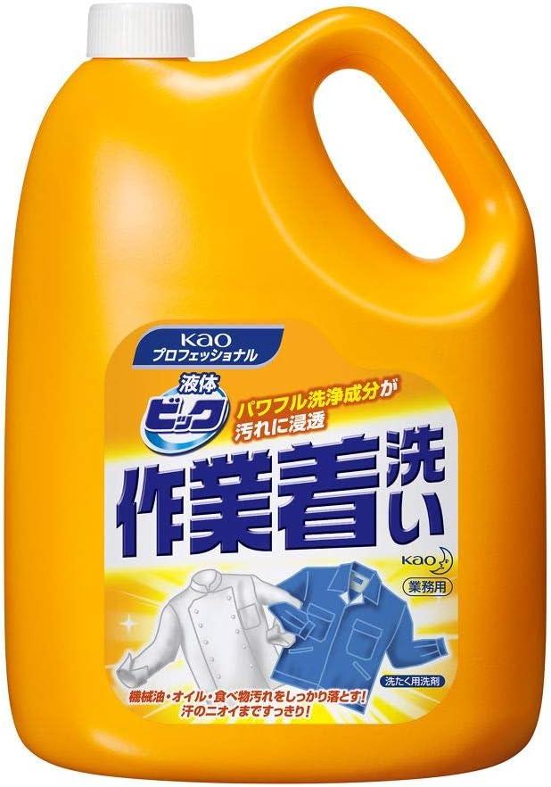 【業務用 衣料用洗剤】液体ビック 作業着洗い 4.5kg