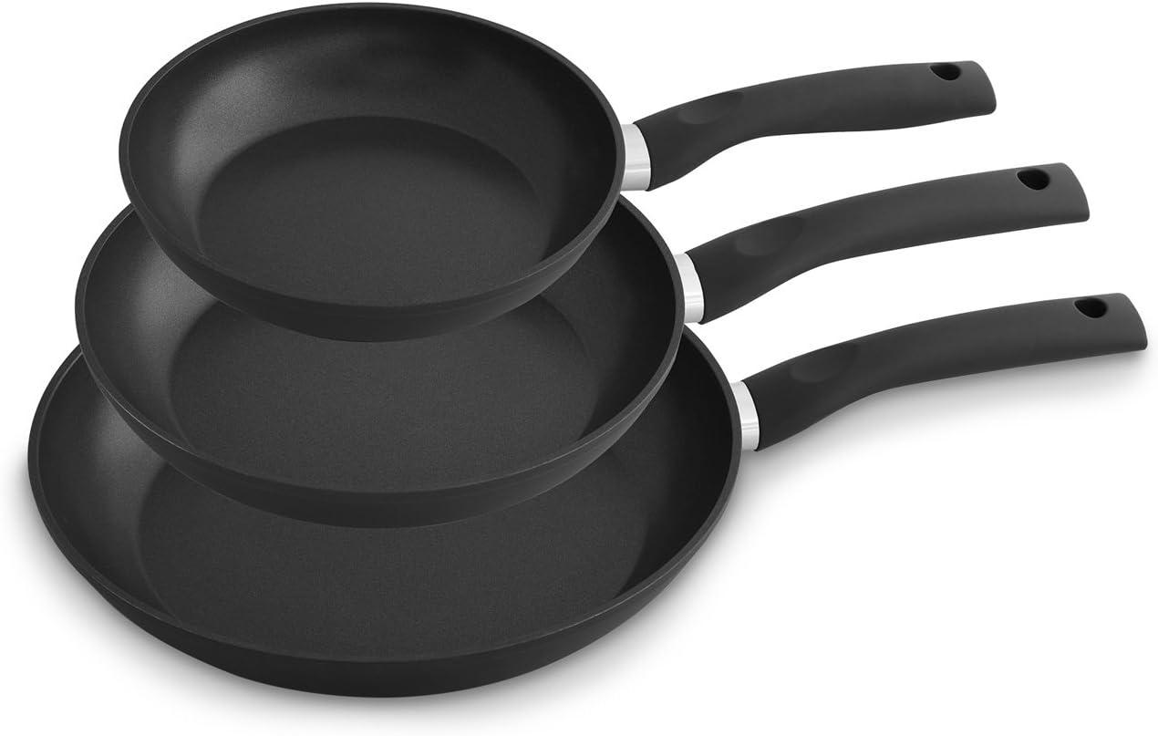 K/&G Forged Aluminium Non Stick 3 Piece Frying Pan Set