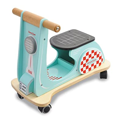 Indigo Jamm Jamm Scoot Aqua Wood Scooter Ride On: Toys & Games