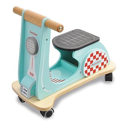 Indigo Jamm - Patinete de Madera con diseño Retro clásico para niños Mayores de 12 Meses - Aqua Racer