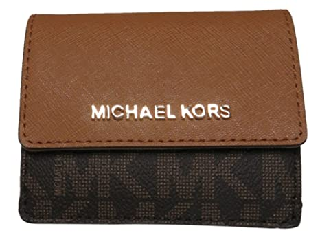 2a986f74734c93 Michael Kors Jet Set Travel Card Case Wallet Brown/Acorn at Amazon ...