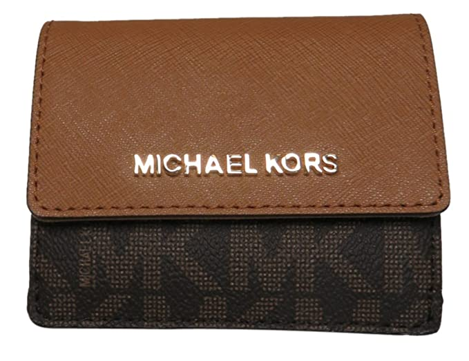 e41e5e5b306d Michael Kors Jet Set Travel Card Case Wallet Brown Acorn at Amazon Women s  Clothing store