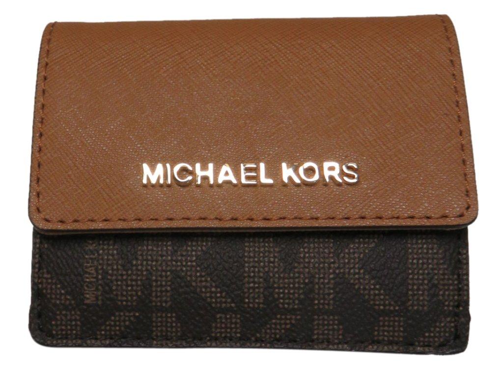 Michael Kors Jet Set Travel Card Case Wallet Brown/Acorn