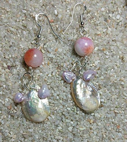 - Pretty Pink Sea Shells Earrings, Beach Freedom Earrings, Sparkling Sea Shell Earrings. Free Spirit Earrings. #HoneyBeMe