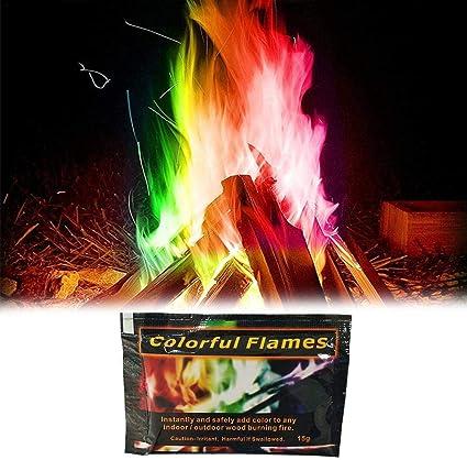 Bulary Magic Fire Coloridas Llamas en Polvo 3 Paquetes/Set ...