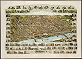Historic Map | Haverhill, Massachusetts : 1893 | Antique Vintage Reproduction