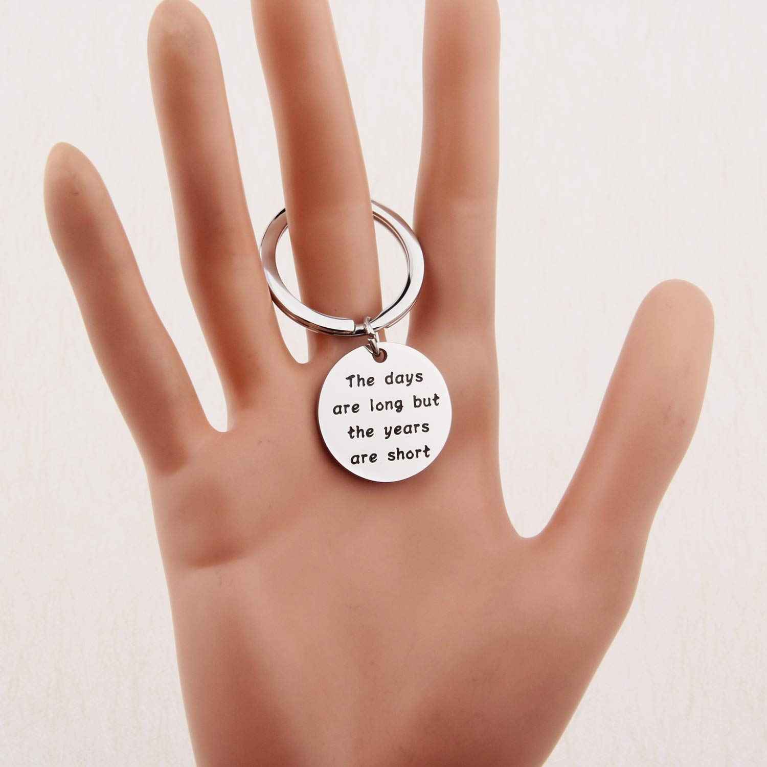 MYOSPARK Gift for New Parents New mom Gift Pregnancy Announcement Gift New dad Keychain
