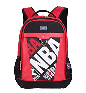 5a179f889e3c41 YOURNELO Basketball Player Rucksack School Backpack Bookbag (B Bulls)