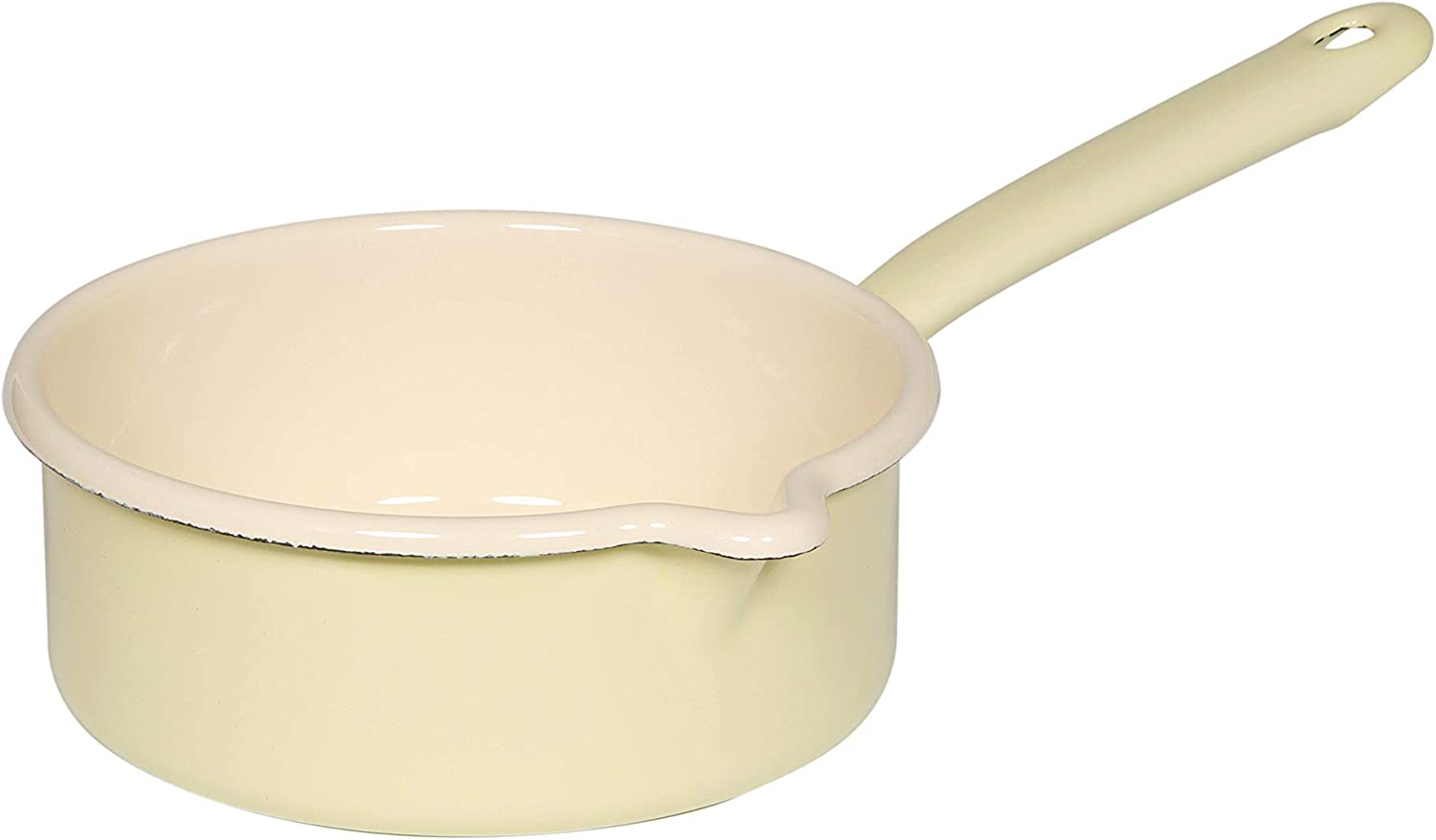 Riess Couvercle EMAUX EMAILE topfeckel Casserole couvercle avec chromrand 16 cm