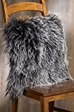Overland 20'' x 20'' Single-Sided Tibetan Lamb Fur Pillow