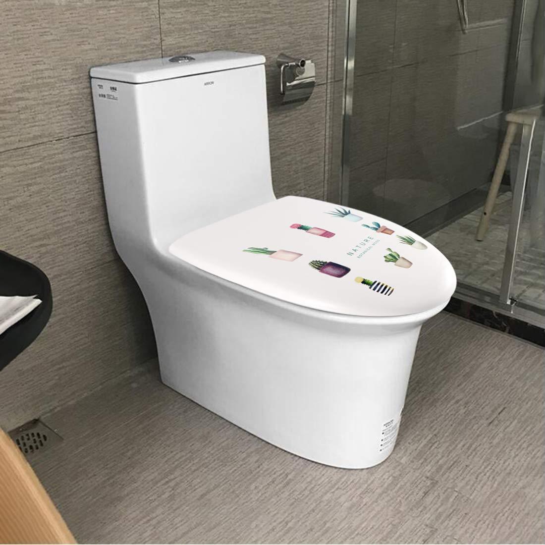 Succulents JOTOM Premium Quality Toilet Seat,Easy to Mount,Beautiful Printed Design Toilet Seats for Bathroom