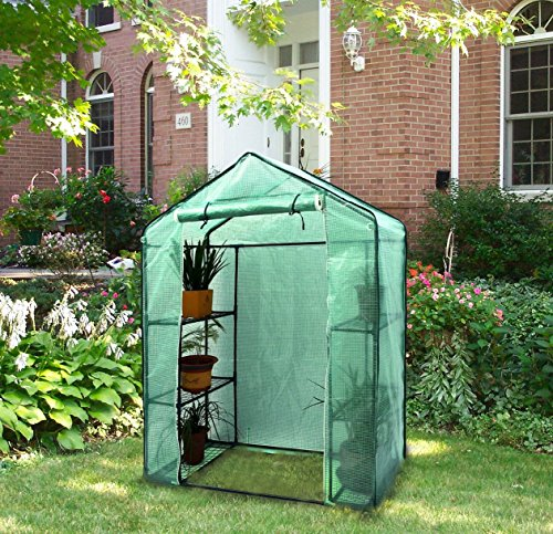 Portable Greenhouses for Outdoors Small Walk-in Plants Tools Pots 6 Wired Shelf Stands Garden 56.3''x 28.7''x 76.7'' Stable Rust Resistant Detachable - Skroutz Deals by Unknown