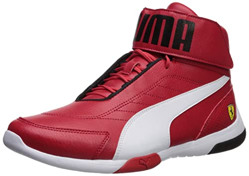 Amazon.com: PUMA Mens Ferrari Kart Cat Mid III Sneaker Rosso Corsa White, 9 M US: Shoes