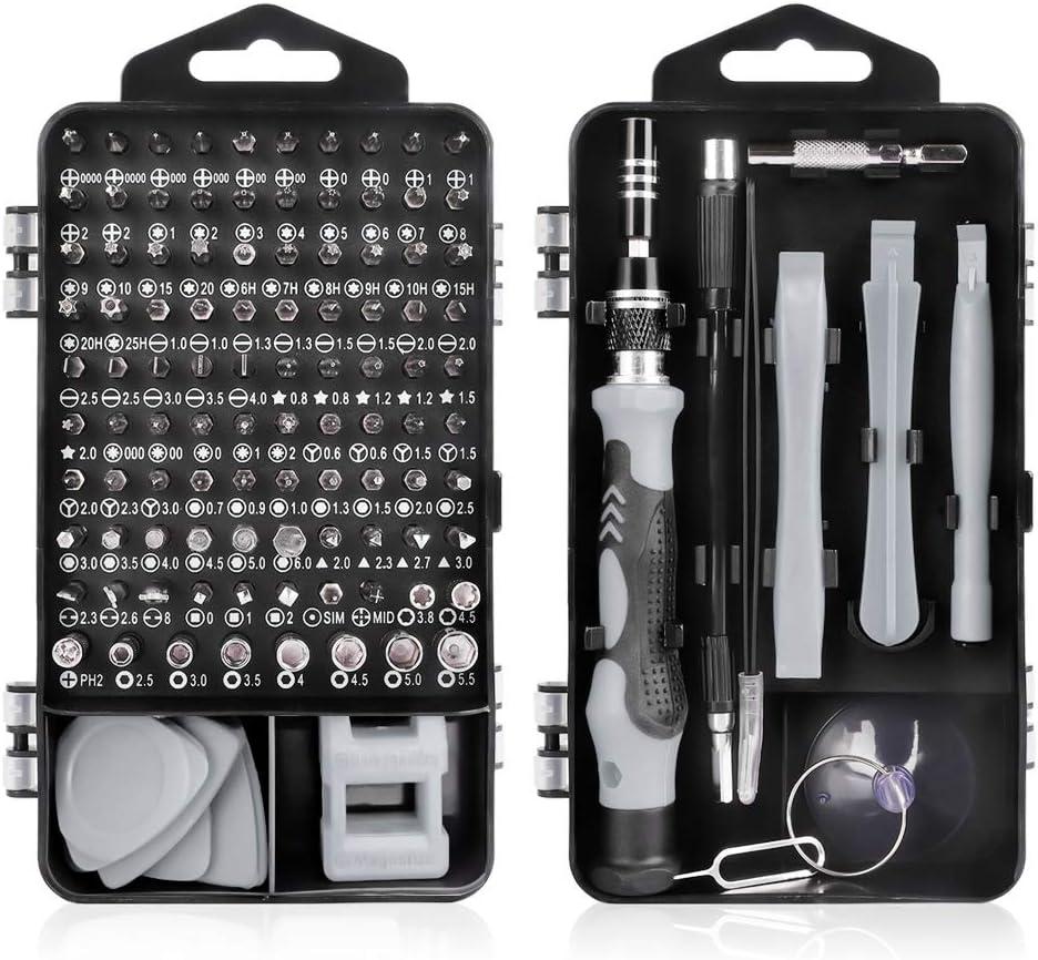 Juego de Destornilladores de Precisión,115 en 1 Destornilladores de Precision para iPhones,PC,Smartphone,Cámara,Reloj,Gafas y Otros Aparatos Electrónicos
