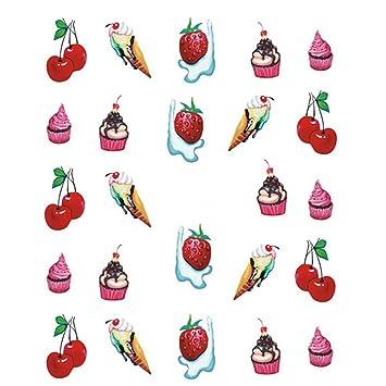 amazon com 1 set ice cream cherry strawberry sweet nail art