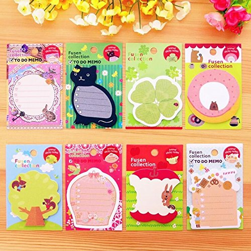 3 Pcs Free 3 Pcs Cute Memo Pad Sticky Note Kawaii squirrel sticker Scrapbooking Pads Creative Korean Stationery gifts (Random Color) (Post It Note Heart Dispenser)