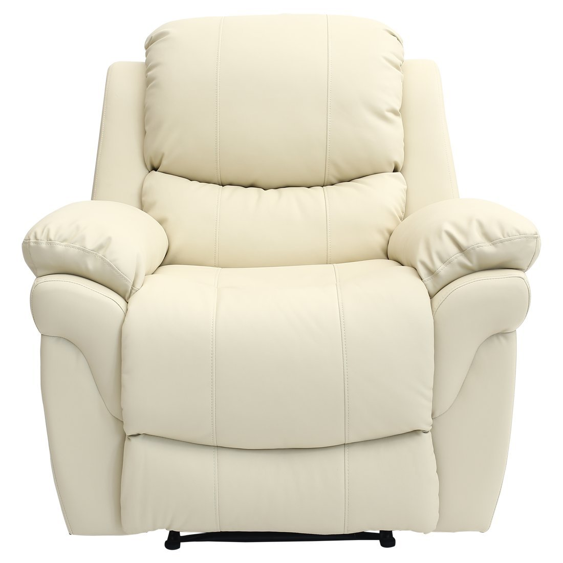 MADISON LEATHER RECLINER ARMCHAIR SOFA HOME LOUNGE CHAIR RECLINING GAMING  (Cream): Amazon.co.uk: Kitchen U0026 Home