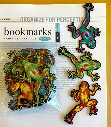 Frog Bookmarks - (Set of 20 Book Markers) Bulk Animal Bookmarks for Students, Kids, Teens, Girls & Boys. Ideal for Reading incentives, Birthday Favors, Reading Awards and Classroom Prizes!