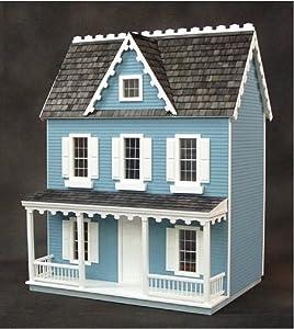 Real Good Toys Dollhouse Miniature Vermont Farmhouse Jr. Dollhouse by RGT