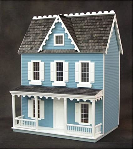 Amazon Com Real Good Toys Dollhouse Miniature Vermont Farmhouse Jr