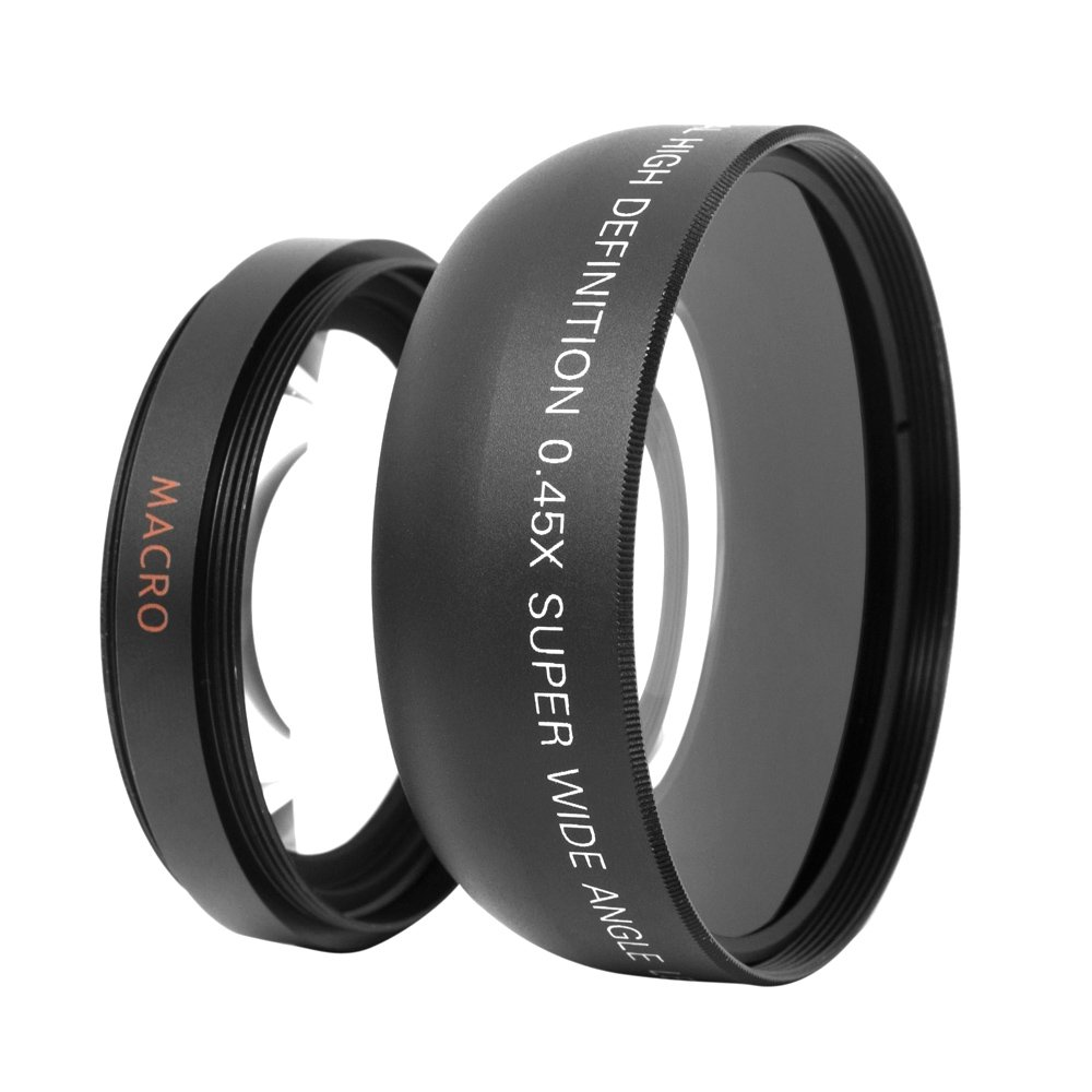 Andoer HD 52/MM 0.45x Wide Angle Lens With Macro lens For Canon Nikon Sony Pentax 52/MM DSLR Camera