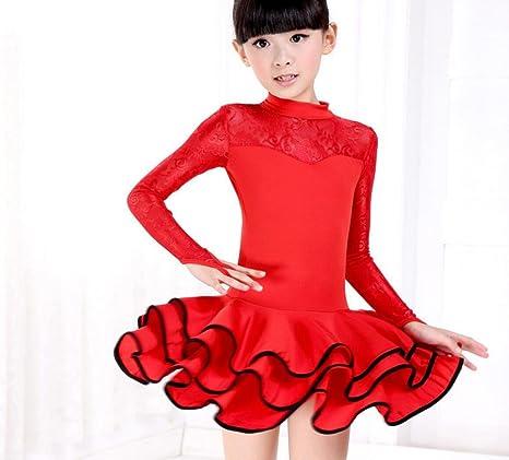 Falda de Baile Latino para niñas Disfraces para niños Competencias ...