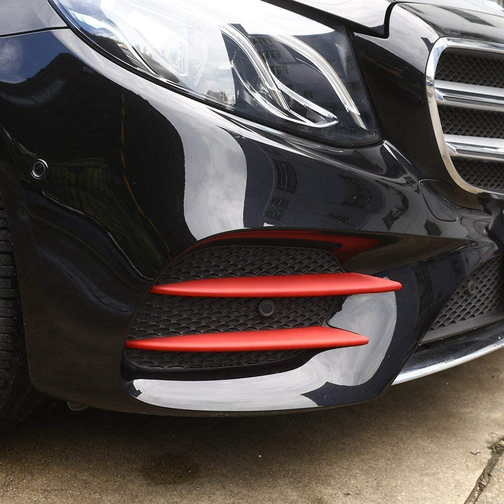 Red Car ABS Front Fog Light Lamp Cover Trim Sticker for Benz E W213 Class