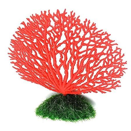 Gosear® D'Aquarium Décoration Corail Artificiel Ornement Accessoires Rouge