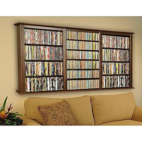 Amazon.com: Venture Horizon Wall Mount Media Cabinet-Triple Walnut ...