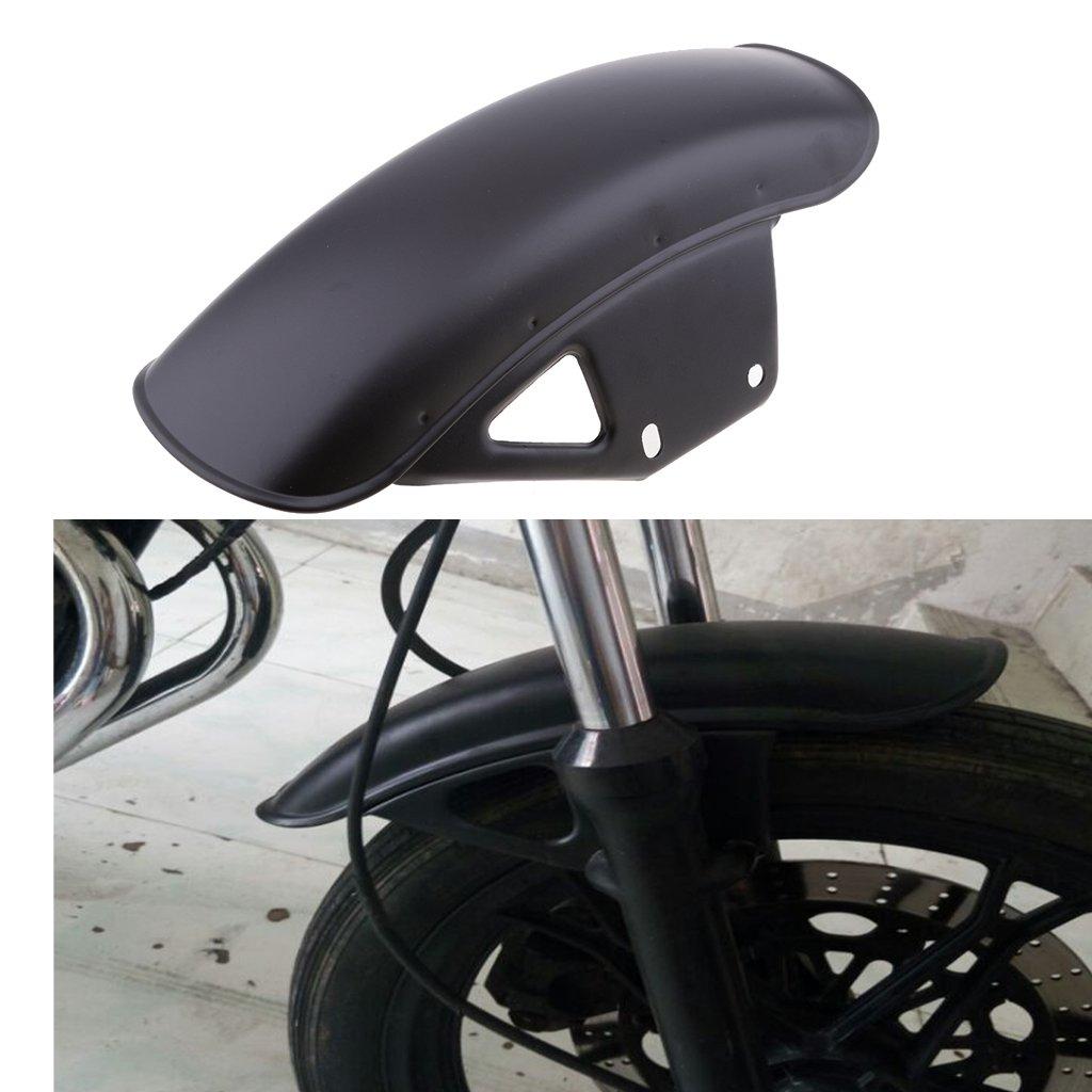 Almencla Garde-Boue Avant de Moto en Acier Inoxydable pour Honda CG 125 Chrome
