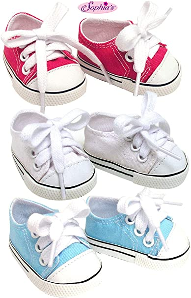 """American My Life Clothes Blue Lace up Tennis Shoes 18/"""" BOY Doll or GIRL NEW"""