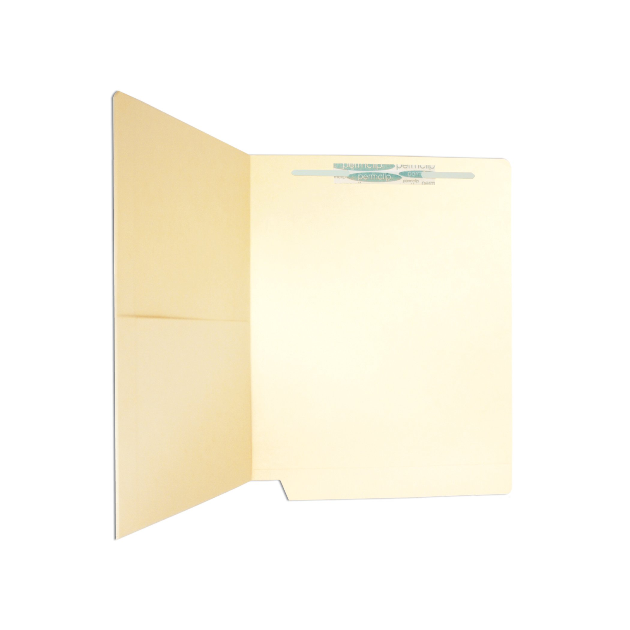 Medical Arts Press Match 11pt Manila End Tab Pocket Folders with 1 Permclip Fastener- Drop Front, Letter Size (250/Carton)