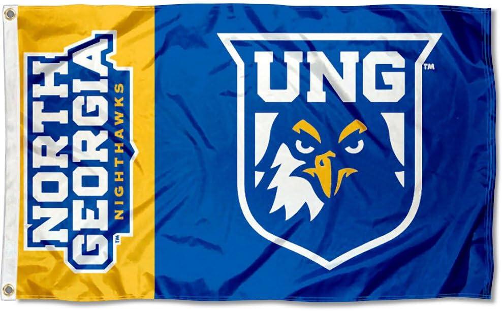 North Georgia Nighthawks UNG Distressed Retro Design Logo Short Sleeve T-Shirt