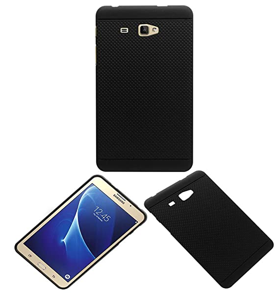 ACM Dotted Soft Silicon Back Case for Samsung Galaxy J Max Tablet Premium Cover Black Mobile Phone Cases   Covers