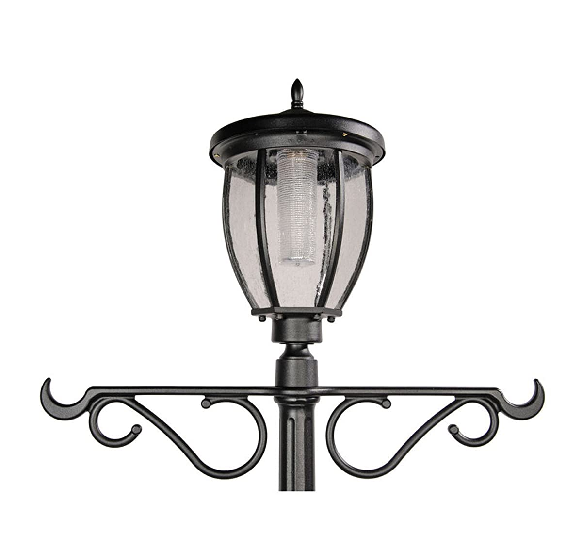 Nature Power 84in Tall Solar Powered LED Lamp Post with 18.5in. Planter