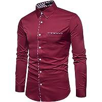 d.Stil - Camisa de manga larga para hombre, ajustada y fácil de planchar, para negocios, ocios