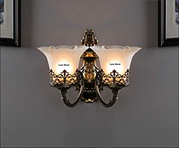 Lyse Decor 40w Double Lights Wall Lamp Wall Hanging Light Multicolour Sherry Amazon In Home Kitchen