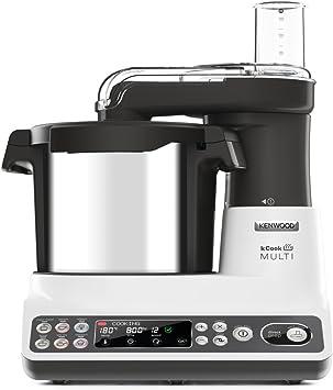 Kenwood KCook Multi CCL401WH - Robot de cocina multifunción de 1500 W, hasta 180ºC, bol de 4.5 L, 6 programas predefinidos, accesorios incluidos, clase A, gris/blanco: Amazon.es: Hogar
