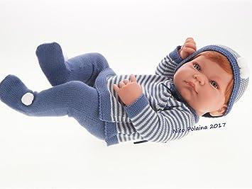 Amazon.es: Muñeco recién nacido Nico con Polaina Azul: Juguetes y juegos
