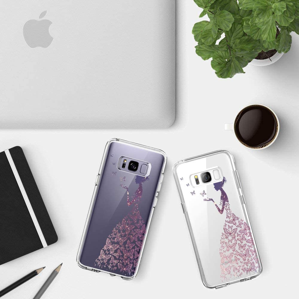 Case Compatible with Galaxy S8,Ultra-Thin Soft Clear Silicone TPU Bumper Protective Cover for Galaxy S8 Plus