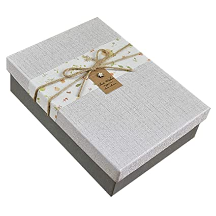 Caja cumpleaños Rectangular Textura Textura Material para Regalo Amigos y Familia (Tamaño : L(